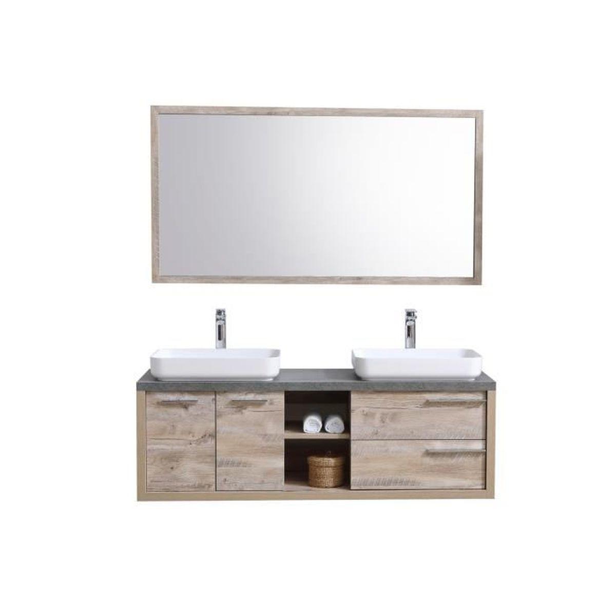 Meuble Pour Vasque Avec Colonne meuble de salle de bain vermont 150cm lavabo nature wood