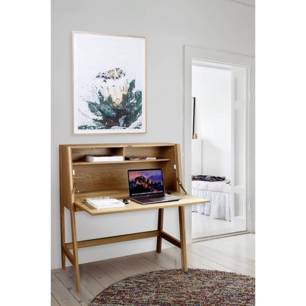 bureau secretaire en bois achat vente pas cher. Black Bedroom Furniture Sets. Home Design Ideas