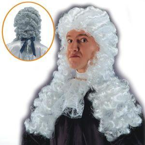 CHAPEAU - PERRUQUE Perruque de Roi Juge - deguisement - Synthétique -