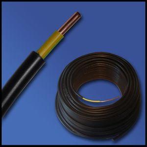 50 m NYY-J 1x16 Tortola un câble électrique elektroleitung Câble Noir VDE