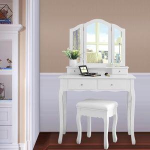 COIFFEUSE Coiffeuse Table de maquillage style champêtre avec