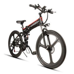 KIT VÉLO ÉLECTRIQUE Vélo Électrique Pliant Noir - 350W 48V 10AH - 3 MO