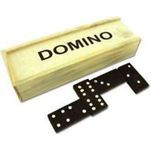 DOMINOS Jouet en bois Boîte de Domino Jeu de dominos de Vo