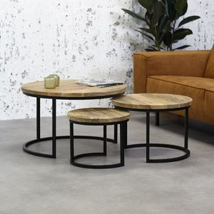 TABLE BASSE 3 Tables Basses Bois Massif Ivy