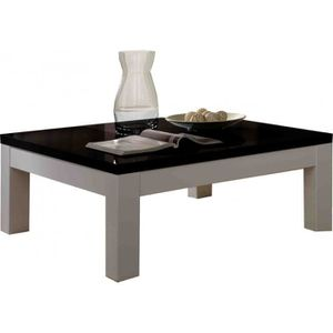 table basse de salon noir et blanc achat vente table. Black Bedroom Furniture Sets. Home Design Ideas