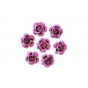 * 3 pour 2 NOUVEAU * 50 rouge vif opaque Fleur Forme 13 mm poney perles