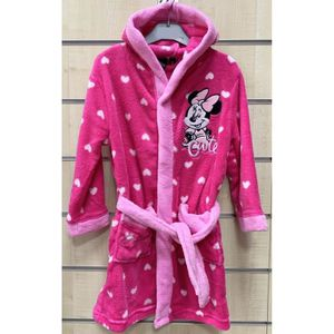 Cadeau Naissance Peignoir Pantoufles Disney Minnie 900811 9//12 Mois Rose