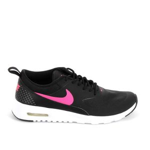 BASKET NIKE Air Max Thea Noir Rose 814444-001 ...