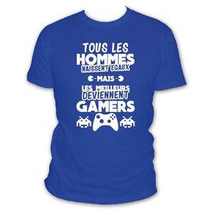 T-SHIRT Tee Shirt Humour Geek Tous Les Hommes Naissent Ega