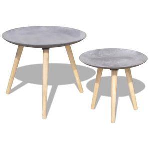 TABLE BASSE Ensemble de Tables de salon Table basse 2 pcs 55 c