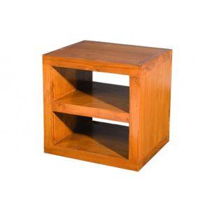 CASIER POUR MEUBLE Cube moderne 1 étagère en teck, 40 x 34.8 x 40 cm