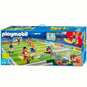 UNIVERS MINIATURE Playmobil Joueurs / terrain de football