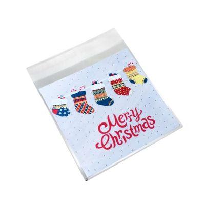 100pcs Cookie Candy Paquet Sacs Cadeau Cellophane Autocollante Sacs