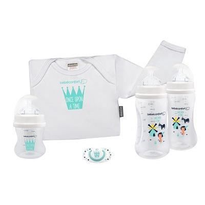 BEBE CONFORT Coffret cadeau Edition limitée Once Upon a Time - 1 biberon 140ml + 2 biberons 270ml + 1 sucette Dental Safe + 1 body