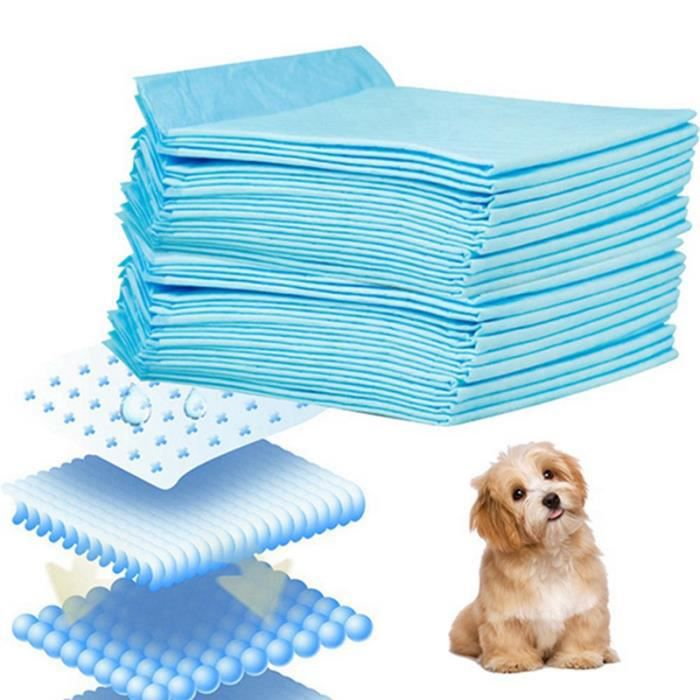 Tapis Educateurs 50Pcs 60x45cm Super-absorbance apprentissage de proprete Formation Pads Pet Alèse Toilettes Pour Chien