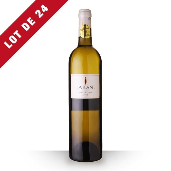 Lot de 24 - Tarani 2018 IGP Comté Tolosan - 24x75cl - Vin Blanc
