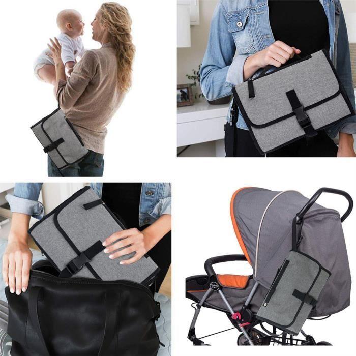 Soins bébéTapis à langer portatif de matelas à langer de couche-culotte imperméable de bébé de nouveau-nés ZBY90712541_wat