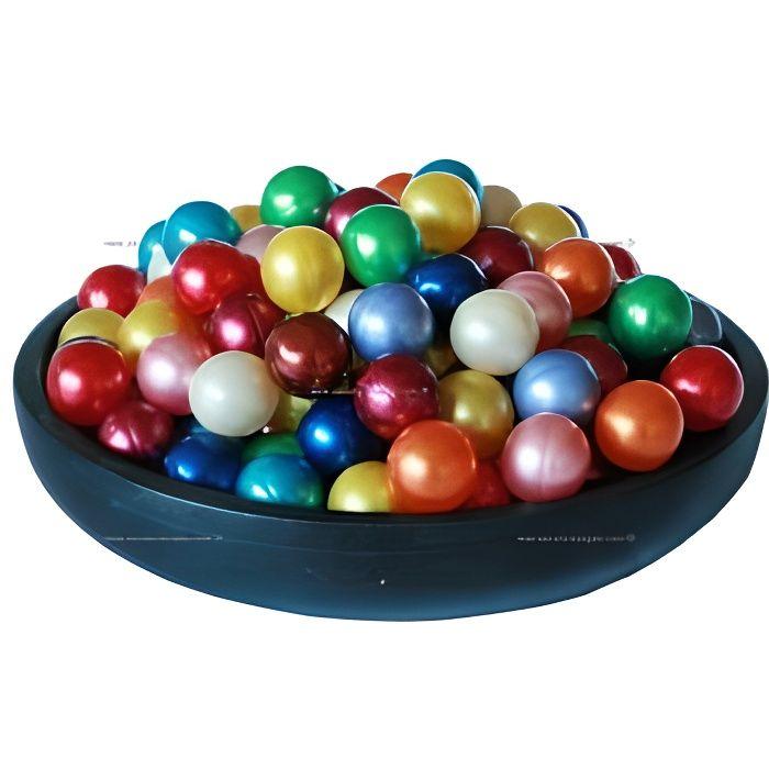 12 perles huile de bain nacrées fragrance Monoï