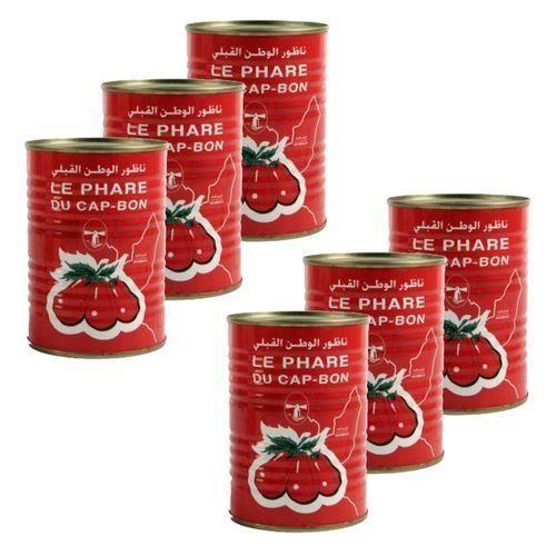 Lot 6X Double concentré de tomate - Le Phare du Cap Bon - conserve 400g (1-2)