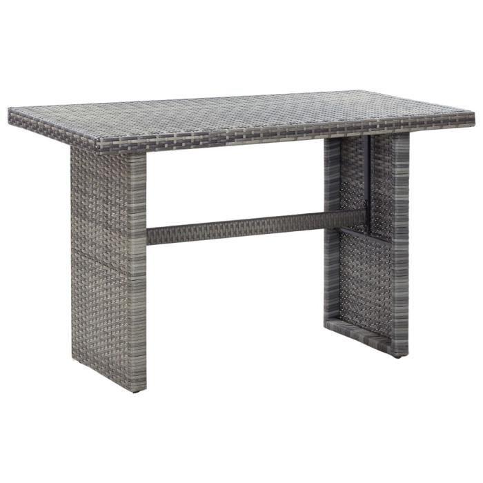 Magnifique Table de jardin Décor - Table de bistro Table de salle à manger de jardin Anthracite 110x60x67 cm Résine tressée @62410