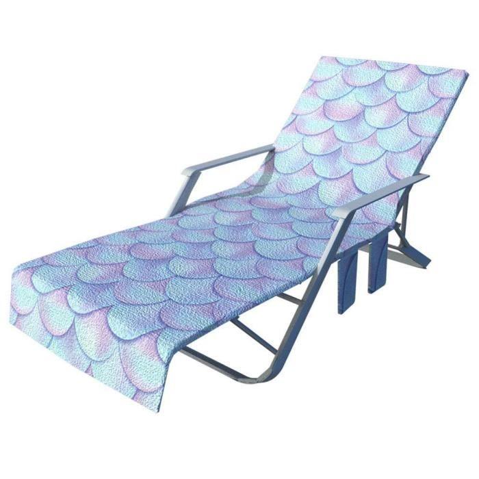 Nouveau imprimé microfibre soleil chaise longue plage couverture serviette vacances jardin pisc - Modèle: 4 75x215cm - TEYYMJA05898