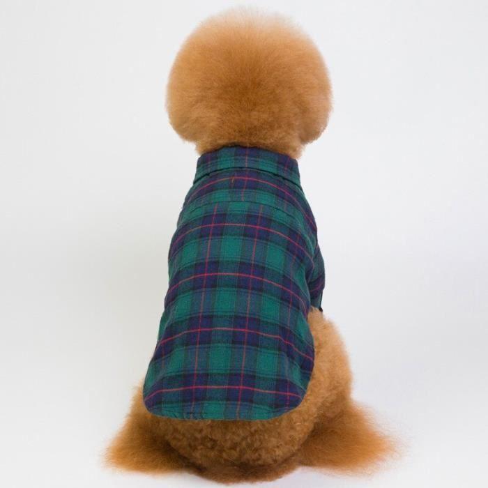 Manteau Blouson,Vêtements de printemps pour chiens Vêtements d'été pour chiens, caniche cang, bouledogue français- Type green-S