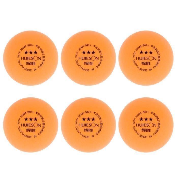 6cps Balle d'Entraînement de Tennis de Table ,Ping-Pong Accessoire Cadeau Tennis de Table -Orange