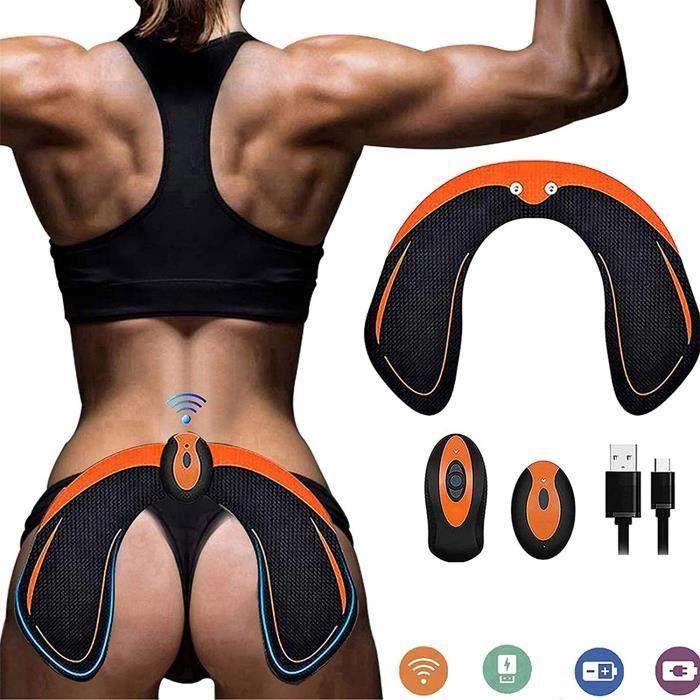 SHENGMI Hips Electrostimulateur Musculaire Hanches Trainer,Appareil de Fesse Intelligent,Electrostimulateur fessier,Télécommande Re