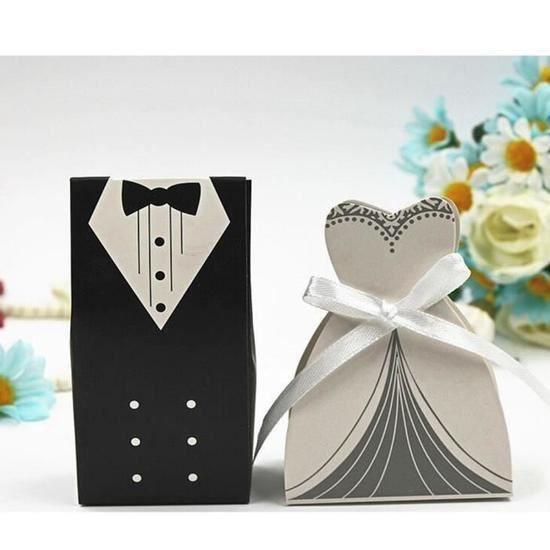 (300pcs) Boîte à dragées 60 couples Marié + 80 Mariée Bonbon nière Cadeau Faveur pour Mariage - Élégant et généreux