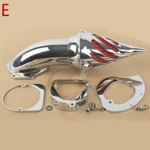 Filtre A Air,Filtre d'admission pour moto, nettoyeur d'air à pic pour Honda Harley Dyna Sportster Softail Touring Chrome - Type E