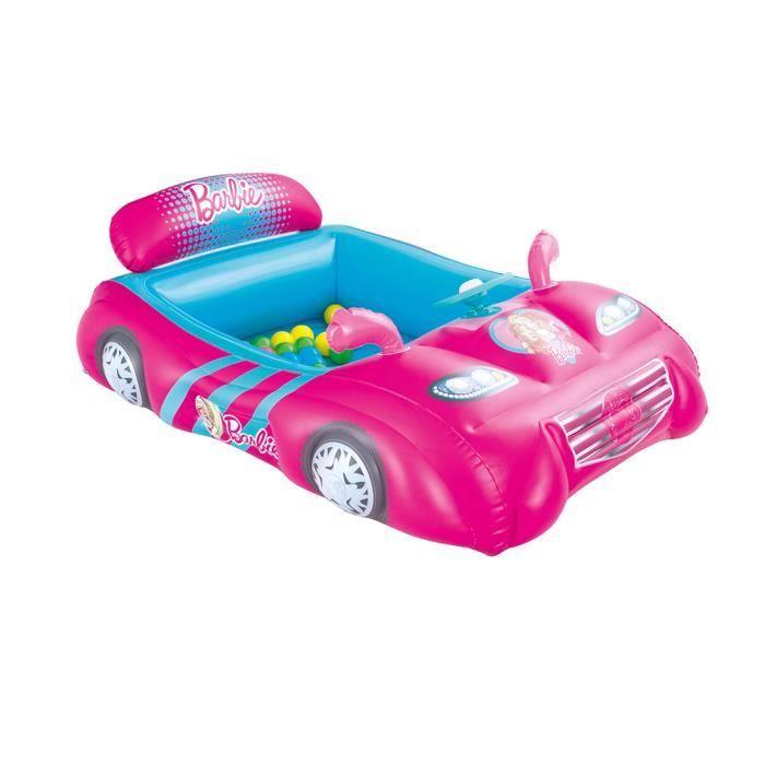 Piscine Gonflable avec des Boules Bestway Barbie Voiture de Sport