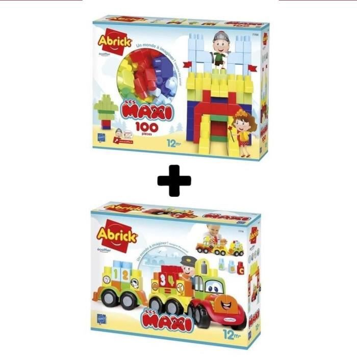 ECOIFFIER Les Maxi Pack de 2 coffrets construction 1er age