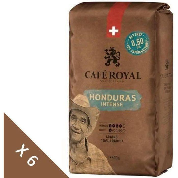 CAFE ROYAL -Lot de 6 - Grain Honduras Intense - 500g