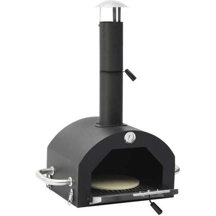 QID Four à pizza d'extérieur avec pierre à pizza