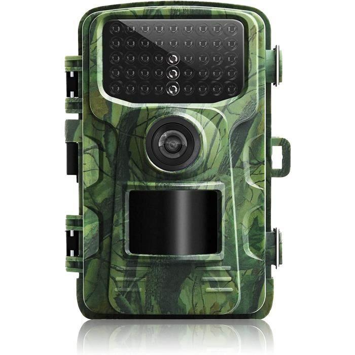Caméra de Chasse Vision Nocturne Infrarouge 1280P 12MP 90° - Etanche IP66 - Détecteur Mouvement