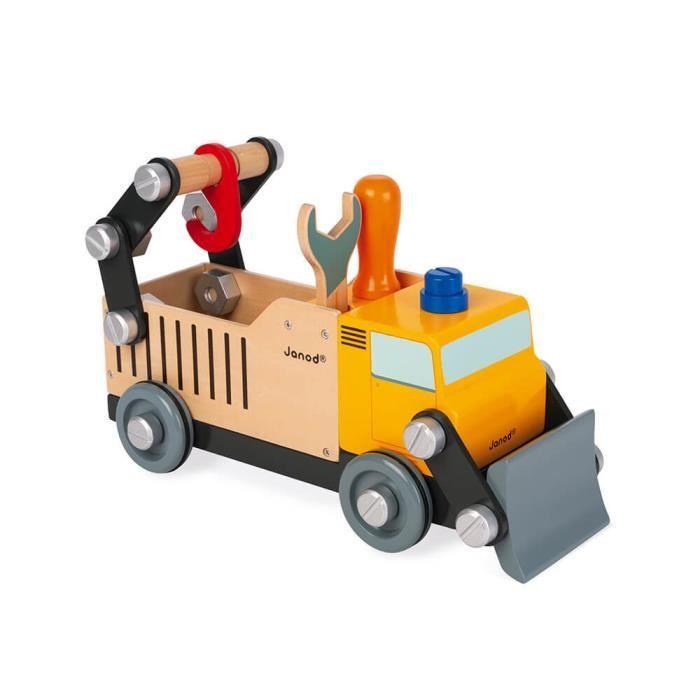 Camion de Chantier Brico'kids - Jeu de Construction en Bois - Dès 3 ans