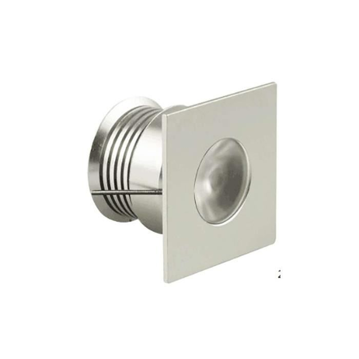 Spot LED Carré Encastrable Compact 4W 12V Équivalent 30W IP65 - Blanc Naturel 4000K