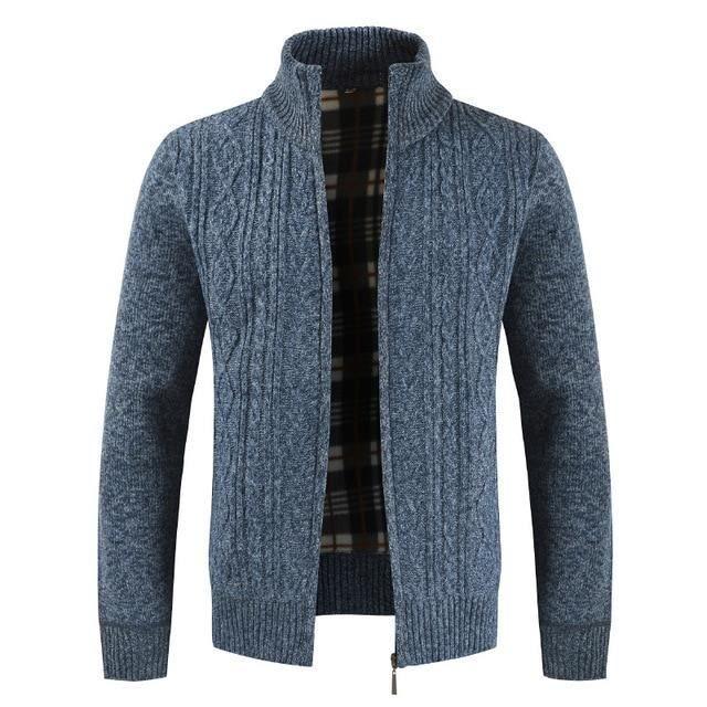 Automne Cardigan Hommes Chandails épais Chaud Tricoté Pull Hommes Vestes Manteaux Hommes Vêtements Tricots De Style Décontract�