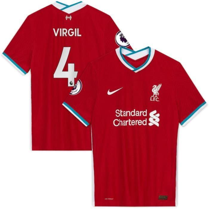 Nouveau Maillot Domicile Liverpool Maillot de Foot 4 Virgil Van Dijk 2020 2021 Pas Cher pour Homme