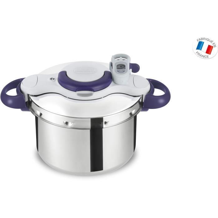 SEB P4620700 Autocuiseur Cocotte-minute CLIPSO MINUT PERFECT - 6L - Tous feux dont induction - Fabrication française - Violet