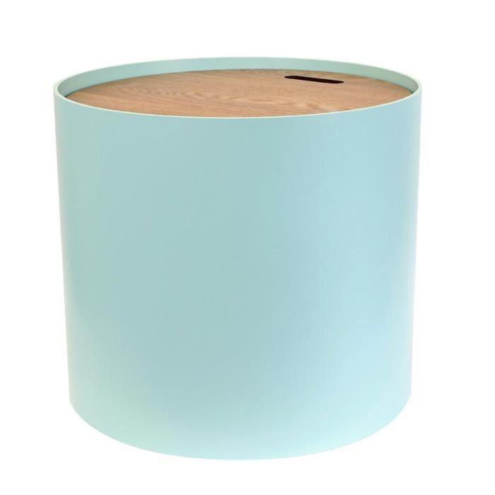 Table coffre vert - Dim : 43 x 38 x 48 cm