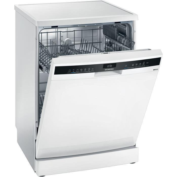 Lave-vaisselle pose libre SIEMENS SE23IW08TE iQ300 - 12 couverts - Moteur induction - L60cm - 48 dB - Blanc