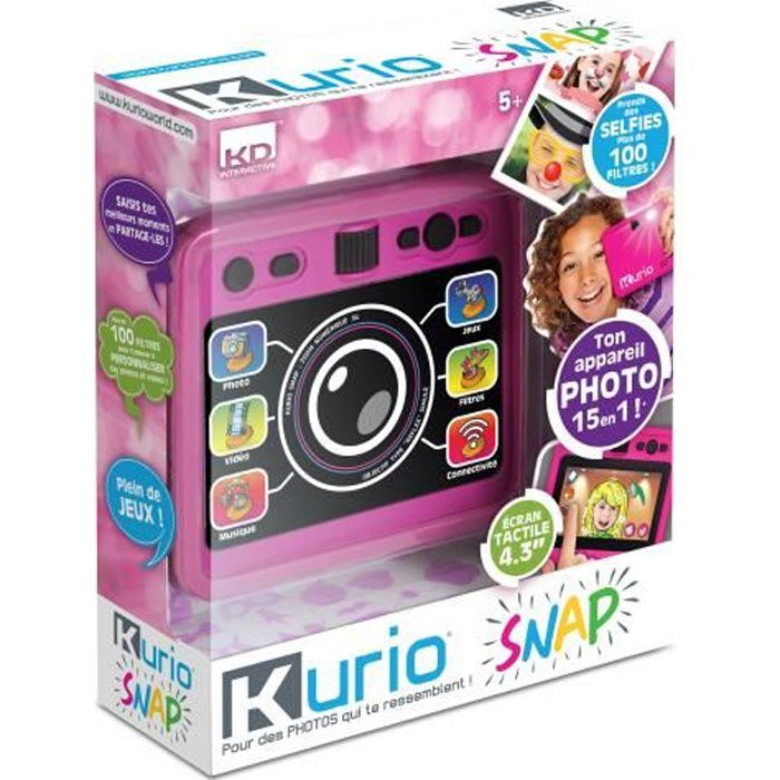 KURIO SNAP Appareil Photos et Selfies - rose