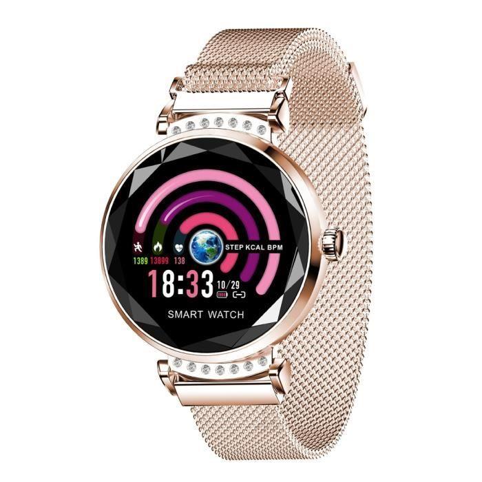 Montre Connectée Pour Femmes Bracelet Sport Ios Android 1.04 Pouce Bluetooth 4.0 - Yonis Or