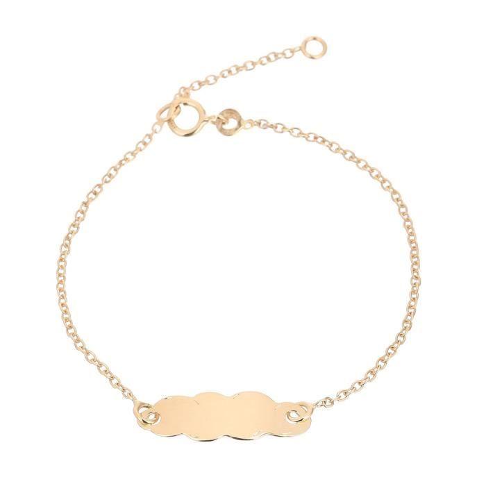 YSORA Bracelet Identité nuage Or Jaune 375° Bébé Mixte
