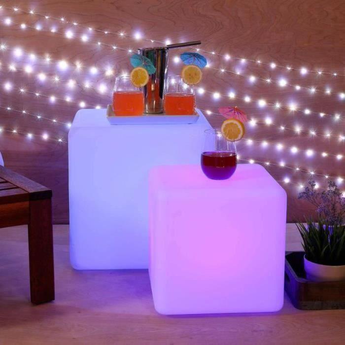 BIR21798-Cube Lumineux 15cm, Lampe Lumineuse Cube LED Télécommande, 16RGB Couleurs Changeables pour Décoration Cadeau