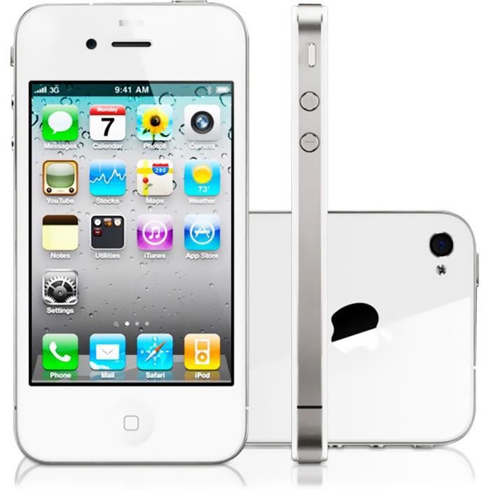 iphone 4s 64go blanc d bloq achat smartphone pas cher. Black Bedroom Furniture Sets. Home Design Ideas