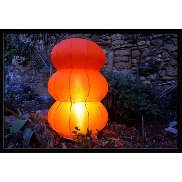 Lampe d 39 ext rieur design pyrale couleur orange achat for Lampe design exterieur