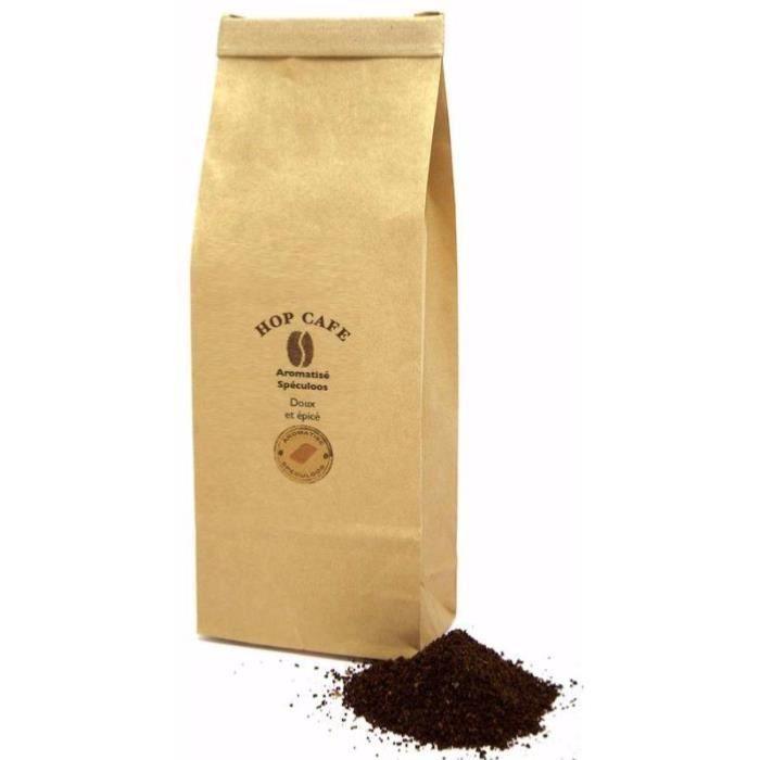 CAFÉ Café moulu  aromatisé Spéculoos pour cafetière à p