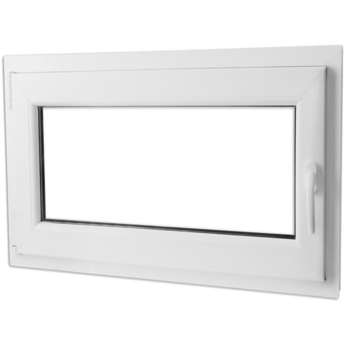 P34 fenetre oscillo battante double vitrage poignee a for Ventilation fenetre double vitrage